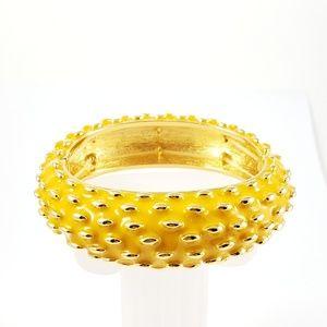 Joan Rivers Bangle Bracelet Yellow Pop Color